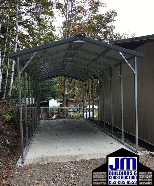 Custom Metal Carport sales and installation by JM Buildings